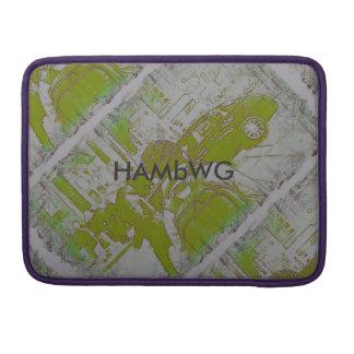 Capa MacBook Pro HAMbWG - luva de Macbook do rickshaw - mochileiro