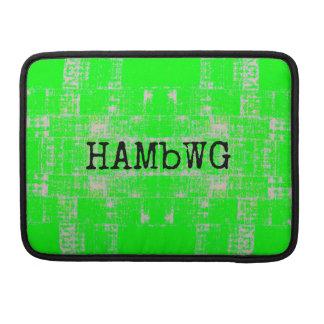 Capa MacBook Pro HAMbWG - luva de Macbook do rickshaw - verde limão