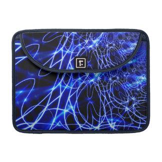 Capa MacBook Pro Linhas azuis da energia, flash do azul da fantasia
