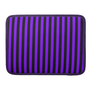Capa MacBook Pro Listras finas - preto e violeta