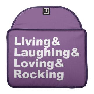 Capa MacBook Pro Living&Laughing&Loving&ROCKING (branco)