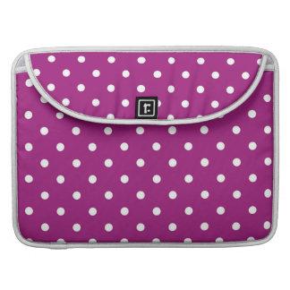 Capa MacBook Pro Luva roxa & branca do caderno de Macbook das