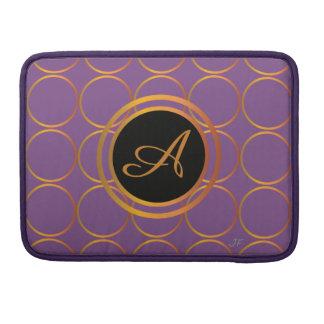 Capa MacBook Pro Monograma dos anéis de ouro