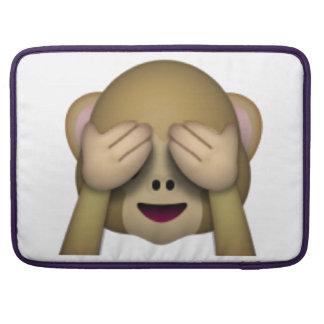 Capa MacBook Pro Não veja nenhum macaco mau - Emoji