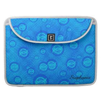 Capa MacBook Pro Peixes de Jesus em bolhas azuis