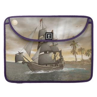 Capa MacBook Pro Sair do navio de pirata - 3D render.j