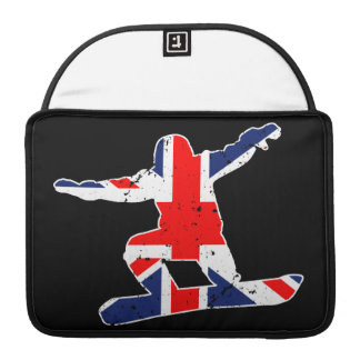 Capa MacBook Pro SNOWBOARDER de Union Jack (branco)