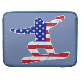 Capa MacBook Pro Stars o SNOWBOARDER das listras do ` n' (branco)