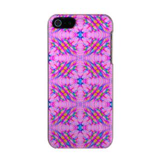 Capa Metálica Para iPhone SE/5/5s Abstrato do teste padrão do caleidoscópio do rosa