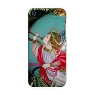 Capa Metálica Para iPhone SE/5/5s Anjo do Natal - arte do Natal - decorações do anjo