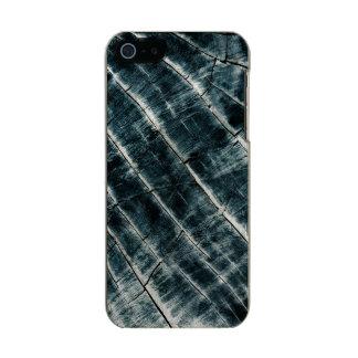 Capa Metálica Para iPhone SE/5/5s Azul pintado de madeira