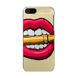 Capa Metálica Para iPhone SE/5/5s bala na boca