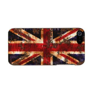 Capa Metálica Para iPhone SE/5/5s Bandeira patriótica oxidada de Reino Unido