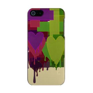 Capa Metálica Para iPhone SE/5/5s Blocos da cor que derretem corações