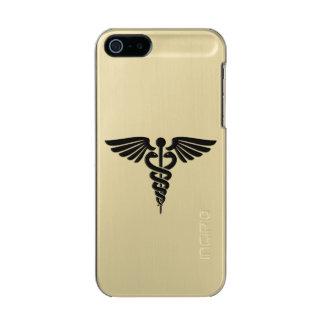 Capa Metálica Para iPhone SE/5/5s Caduceus médico