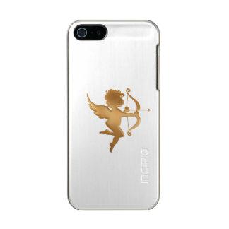 Capa Metálica Para iPhone SE/5/5s Cupido dourado