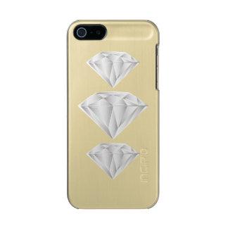 Capa Metálica Para iPhone SE/5/5s Diamante branco para meu querido