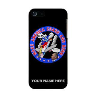 Capa Metálica Para iPhone SE/5/5s Faça América deixar de funcionar & queimar-se