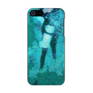Capa Metálica Para iPhone SE/5/5s Mergulhador e bolhas de mergulhador