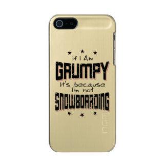 Capa Metálica Para iPhone SE/5/5s Não SNOWBOARDING MAL-HUMORADA (preto)