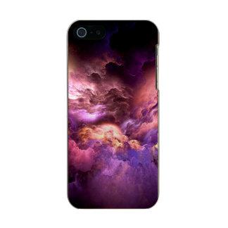 Capa Metálica Para iPhone SE/5/5s Nuvens roxas irreais