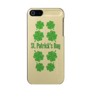 Capa Metálica Para iPhone SE/5/5s O dia de St Patrick com trevo