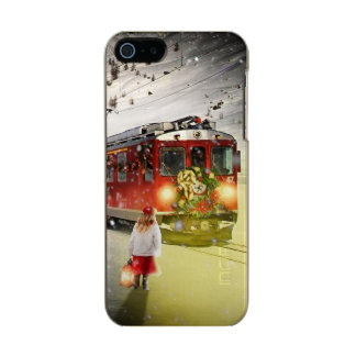 Capa Metálica Para iPhone SE/5/5s O papai noel expresso do Pólo Norte - trem do