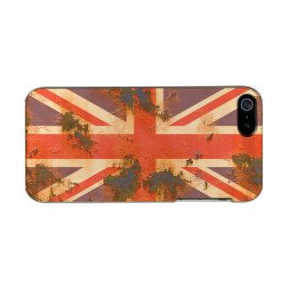 Capa Metálica Para iPhone SE/5/5s O vintage oxidou bandeira de Reino Unido