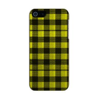 Capa Metálica Para iPhone SE/5/5s Olhar Checkered de serapilheira do teste padrão do