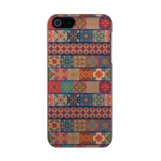 Capa Metálica Para iPhone SE/5/5s Ornamento de talavera do mosaico do vintage