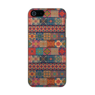 Capa Metálica Para iPhone SE/5/5s Ornamento de talavera do mosaico do vintage