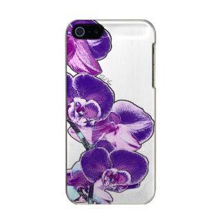 Capa Metálica Para iPhone SE/5/5s Orquídeas