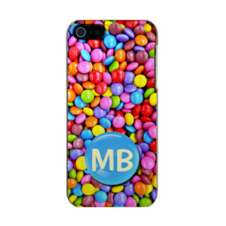 Capa Metálica Para iPhone SE/5/5s Os doces coloridos personalizam a foto