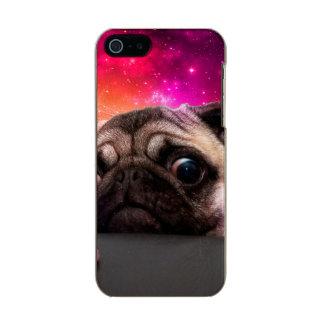 Capa Metálica Para iPhone SE/5/5s pug do espaço - comida do pug - biscoito do pug