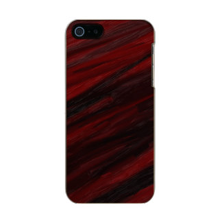 Capa Metálica Para iPhone SE/5/5s Raias diagonais vermelhas e pretas