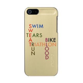 Capa Metálica Para iPhone SE/5/5s Rasgos do suor do sangue do funcionamento da