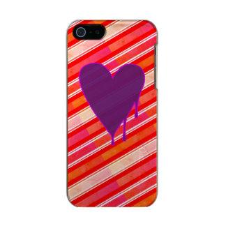 Capa Metálica Para iPhone SE/5/5s Roxo de derretimento do coração