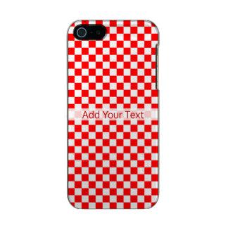 Capa Metálica Para iPhone SE/5/5s Tabuleiro de damas clássico vermelho e branco por