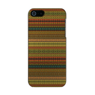 Capa Metálica Para iPhone SE/5/5s Teste padrão asteca tribal do vintage