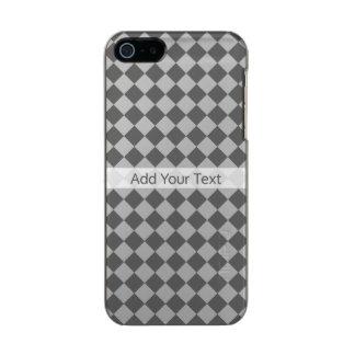 Capa Metálica Para iPhone SE/5/5s Teste padrão cinzento do diamante da combinação