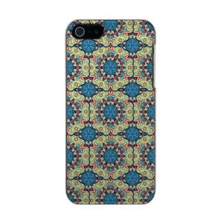 Capa Metálica Para iPhone SE/5/5s Teste padrão floral étnico abstrato colorido de da