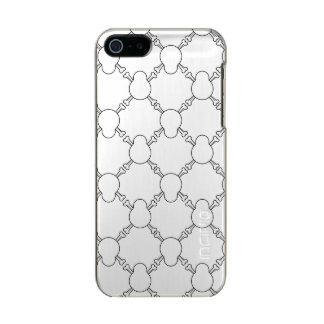 Capa Metálica Para iPhone SE/5/5s Teste padrão preto e branco do crânio e dos ossos