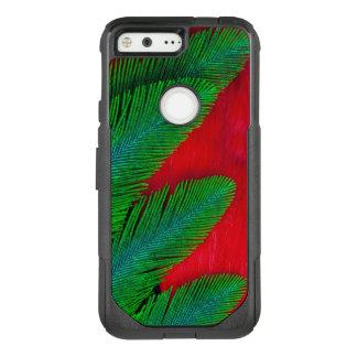 Capa OtterBox Commuter Para Google Pixel Abstrato vermelho e verde da pena