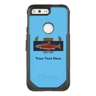 Capa OtterBox Commuter Para Google Pixel Crachá do pescador do combate de Alaska