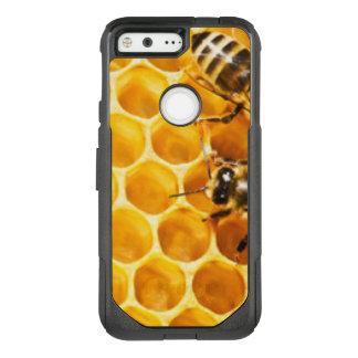Capa OtterBox Commuter Para Google Pixel Favo de mel e design do teste padrão das abelhas