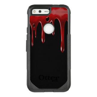 Capa OtterBox Commuter Para Google Pixel O sangue de Falln goteja o preto