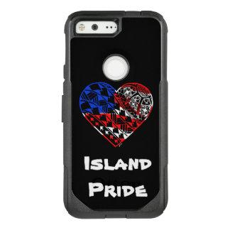 Capa OtterBox Commuter Para Google Pixel Orgulho EUA da ilha do tatuagem do coração