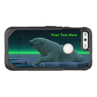 Capa OtterBox Commuter Para Google Pixel Urso polar da borda do gelo