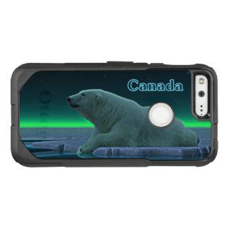 Capa OtterBox Commuter Para Google Pixel Urso polar da borda do gelo - Canadá