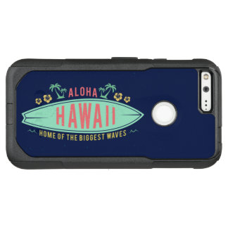 Capa OtterBox Commuter Para Google Pixel XL Aloha capas de telefone havaianas do surfista